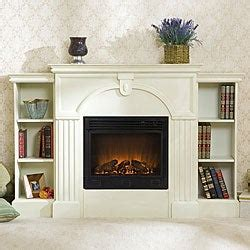 White Electric Fireplace With Bookcase by Luxemburg White Bookcase Electric Fireplace With Remote
