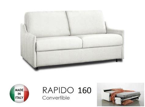 canapé 2 places 160 cm canapé lit 4 places convertible ouverture rapido 160