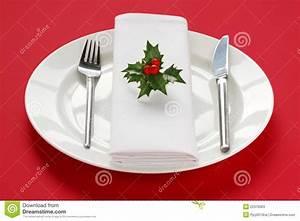 Table Setting For Christmas Dinner Stock Image - Image ...
