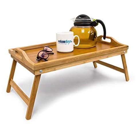 canapé pliable lit relaxdays plateau de lit en bambou pliable table d appoint