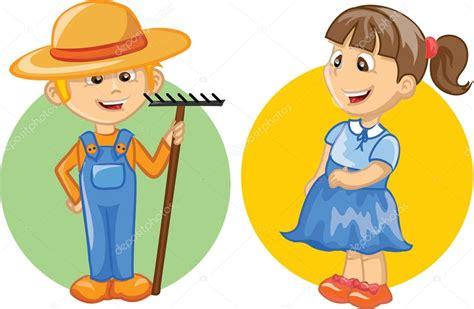 personagem de desenho animado do agricultor bonito Vetor