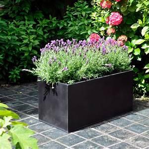 Bac à Fleurs : bac fleurs acier l80 h40 noir gamm vert ~ Teatrodelosmanantiales.com Idées de Décoration