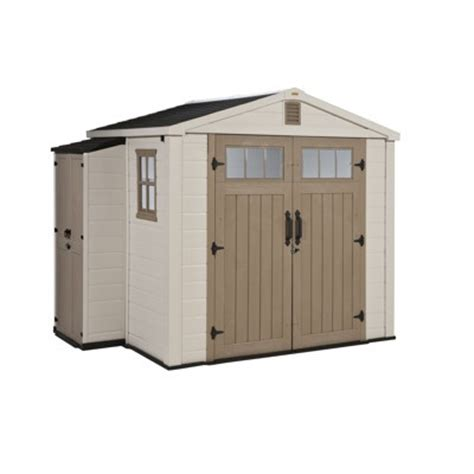 Keter Storage Shed 8x6 by Keter Infinity 8 X 6 Storage Shed With Side Cabinet