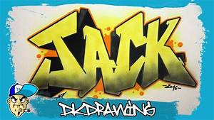 How to draw graffiti names - Jack #19 - YouTube