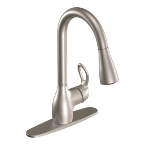 contemporary kitchen faucets moen ca87011srs kleo kitchen faucet with pull spout 2488