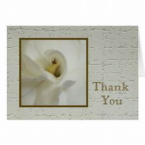 Sympathy thank you note card gardenia zazzle for Thank you note for condolence gift