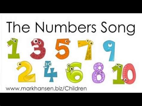 counting songs 1 10 for children numbers to song 807 | hqdefault