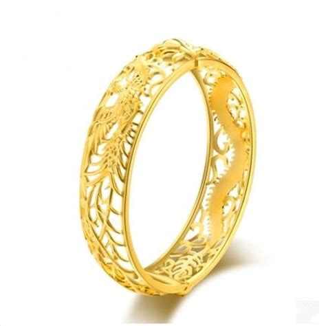 chinese style dragon and design bangle wholesale fashion plating 22k gold bracelets