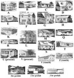 Harmonious Different Style Houses by Alphabet Houses