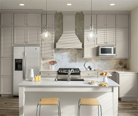 Gray & White Cabinets in Two Tone Kitchen   Aristokraft