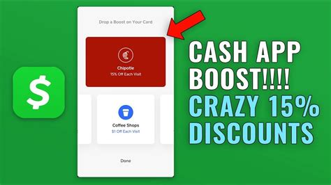 Here is more explanation in stepwise instructions. How to Use Cash App Boost - 15% off Chipotle Every Order - YouTube