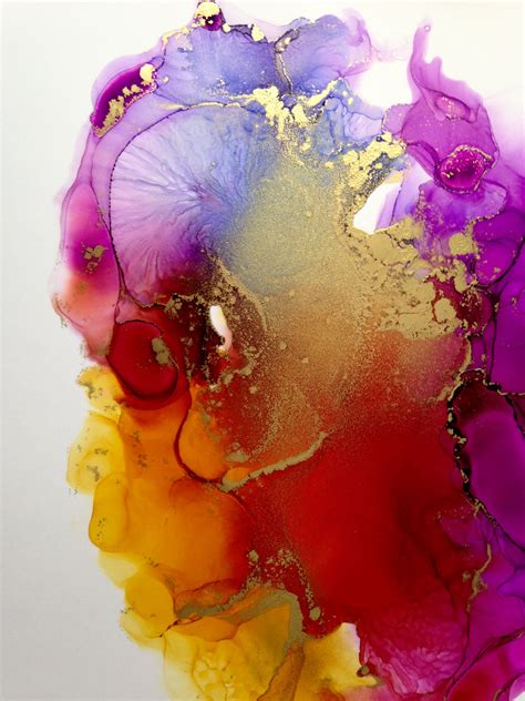 Abstract Alcohol Ink Painting By Linda Crocco