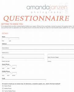 client questionnaire getting to know you amanda janzen With wedding photography client questionnaire pdf