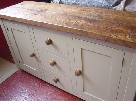 Oak Sideboards Uk by Painted Oak Topped Sideboard The Pinehouse Company