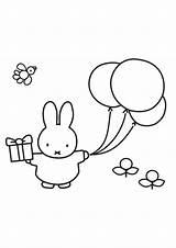 Nijntje Ballon Kleurplaat Kleurplaten Mooi Met Kinderen Verjaardag Konijntjes Tekening Kleine Voor Soorten Beertje Miffy Coloring Downloaden Feest Omnilabo Stampa sketch template