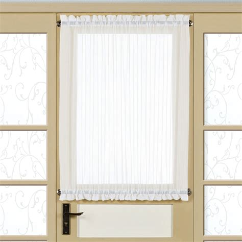 Sidelight Curtain Panel by Monte Carlo Sheer Voile Short Door Panel