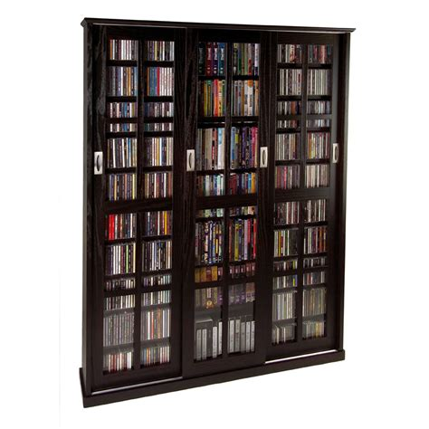 media storage cabinet leslie dame multimedia storage cabinet espresso ms 1050es