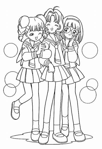 Coloring Pages Friends Friend Anime Sakura Teenage