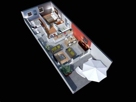 cuisine petit espace plan maison 3d d 39 appartement 2 pièces en 60 exemples