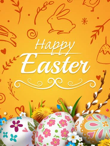 charming happy easter card birthday greeting cards