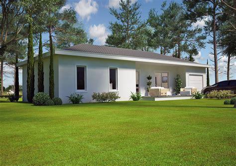 plan maison plain pied 120m2 4 chambres villa contemporaine 80 m2 plain pied modèle lys salon