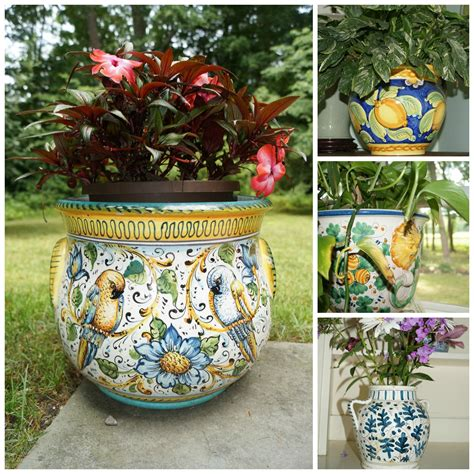 Outdoor Pottery Planters by Italian Planter Collage Planters Planters Planters