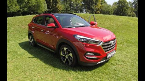 hyundai tucson premium suv fiery red model