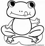 Frog Coloring Printable Frogs Sheet Sheets Colorare Frosch Cartoon Froglet Disegni Children Tiere Ausmalbilder Drucken Malvorlagen Everfreecoloring Toad Female Tail sketch template