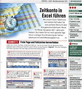 Excel Feiertage Berechnen : zeitkonto f hren arbeitszeiten mit excel berechnen download chip ~ Themetempest.com Abrechnung