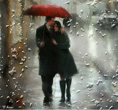 Rain Couple Umbrella Animated Myniceprofile