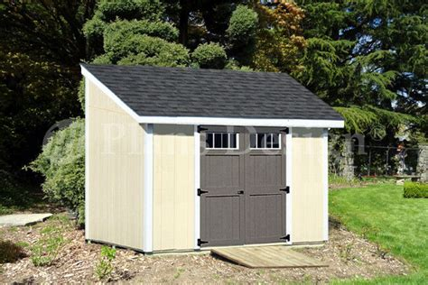 deluxe shed plans lean  dl material list