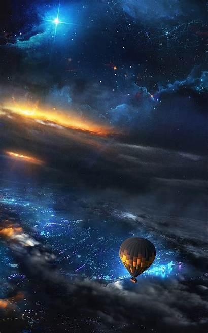 Keren Hp Gambar Langit Space Balloon Malam