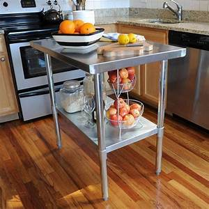 Nice Stainless Steel Kitchen Work Table Island For Sale