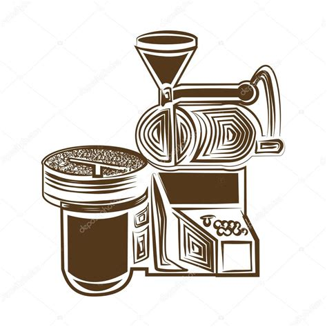 Download coffee illustration images and photos. Coffee roaster icon — Stock Vector © favector #142588009