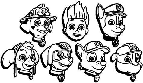 coloriage  dessins pat patrouille ou paw patrol