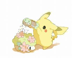 Cute Pikachu and Shaymin Picture | Anime Art