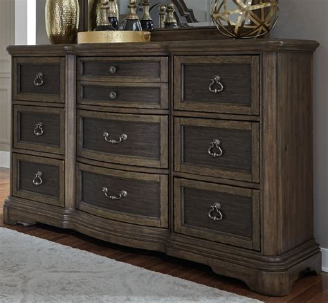 Bedroom Furniture Sets Colorado Springs by Valley Springs Brown And Beige 9 Drawer Dresser From