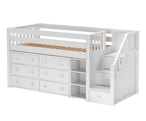 maxtrix great1 storage low loft bed with stairs bed