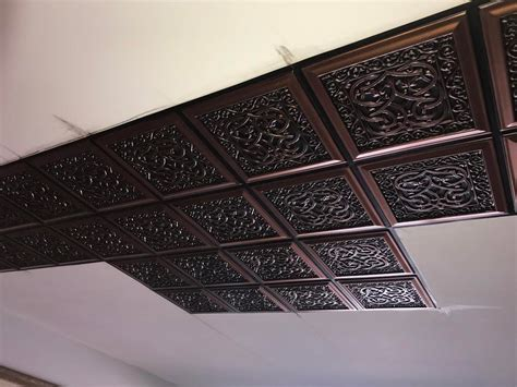 Lover's Knot  Faux Tin Ceiling Tile  Glue Up 24″x24