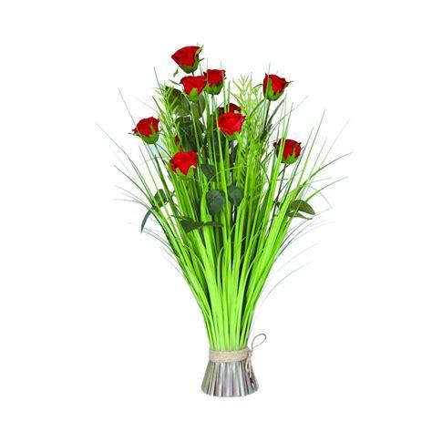 Grass Floral Bundle Rose 70cm - Accessories from Breeze Furniture UK