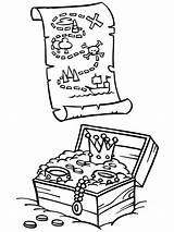 Treasure Coloring Pirate Chest Pages Map Maps Drawing Box Pirates Printable Colouring Piet Lesson Printables Getcolorings Getdrawings Theme Popular Disney sketch template