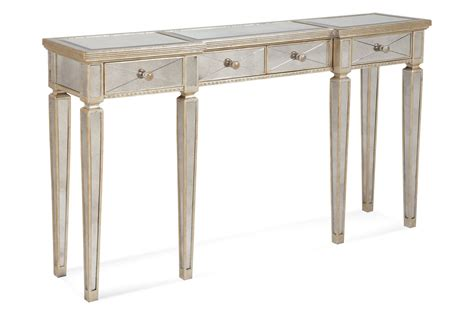 long mirrored console table furniture diy painted reclaimed wood long narrow entryway