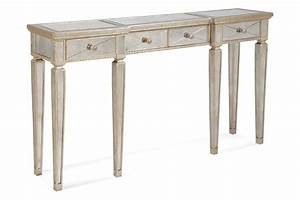 Borghese Mirrored Console Table with Drawers (Antique