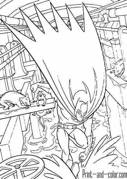 Batman Coloring Pages Knight Dark Boys Comics