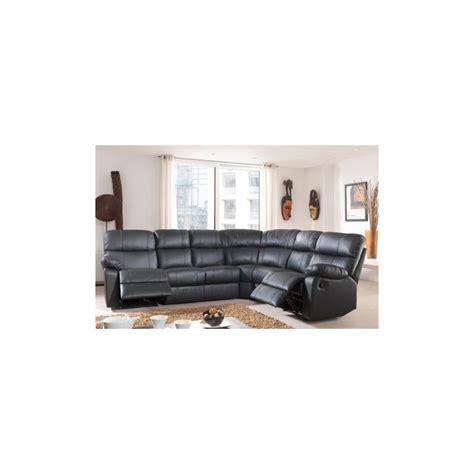 canap d angle avec relax canapé d 39 angle demi cuir avec 2 relax panel meuble