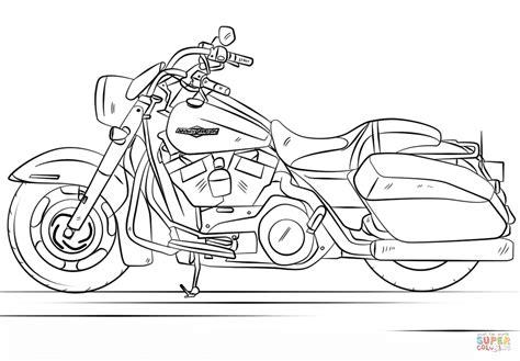 Kleurplaat Harley Davidson by Harley Davidson Road King Coloring Page Free Printable