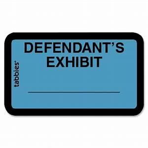 printer With defendant s exhibit stickers