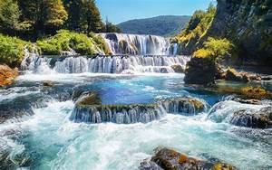 Waterfalls, Strbacki, Buk, River, Una, Bosnia, And, Herzegovina, Landscape, Nature, Desktop, Hd, Wallpaper