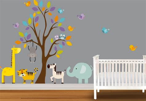 deco chambre bebe theme jungle stickers chambre bébé fille deco maison moderne