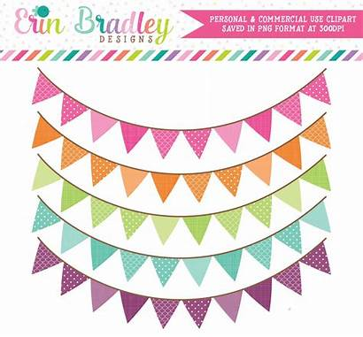 Banner Clipart Pennant Colorful Flags Clip
